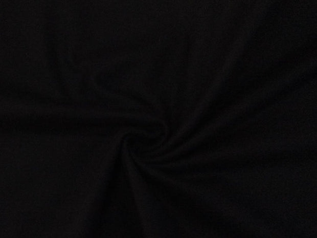 Black Plain Felt Wool Fabric
