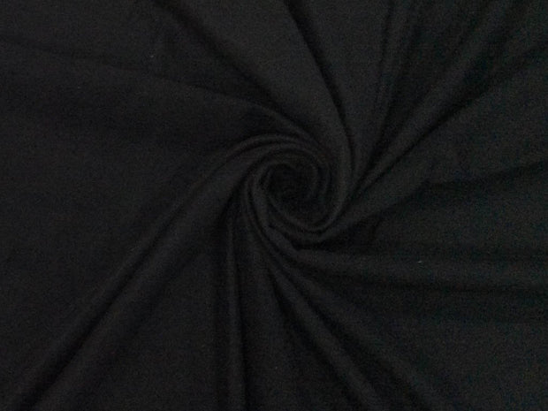 Black Plain Suede Fabric