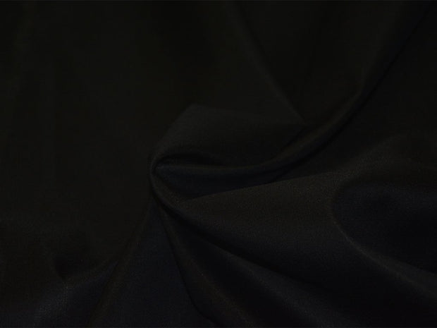 Precut Black Textured Italian Silk Fabric
