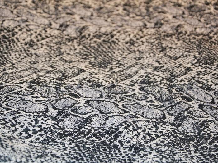 Black White Abstract Animal Digital Printed Georgette Fabric (4550515785797)