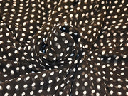 Black White Polka Dots Digital Printed Georgette Fabric (4550487932997)