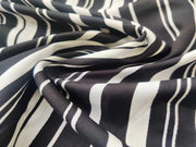 Black White Stripes Poly Crepe Fabric (4523413372997)