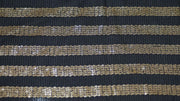 Black and Gold Sequins Stripes Georgette Fabric | The Design Cart