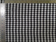 Black and White Gingham Checks Seersucker Cotton Fabric