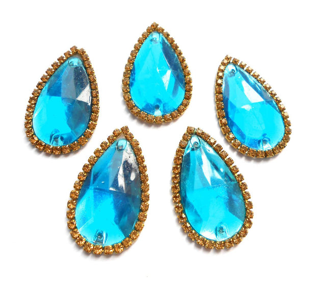 Blue Drop Shaped Stone Patch | The Design Cart (4365512343621)