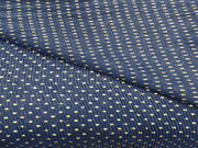 Blue Polka Dots Sequins Embroidered Lycra Fabric