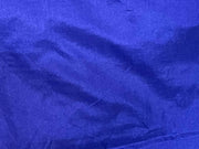 Blue Plain Mill Dyed Poly Silk Fabric