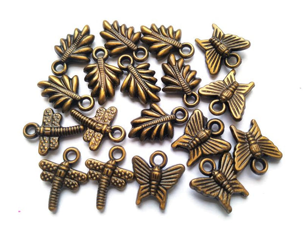 Golden Brass Finished Assorted Charms Combo