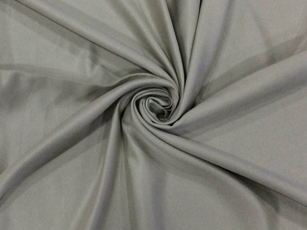 Bright Gray Plain Suede Fabric