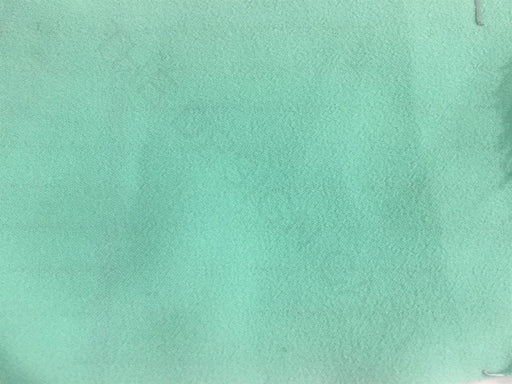 Green Solid Poly Crepe Fabric