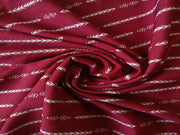 Red White Tribal Print  Polyester Fabric | The Design Cart
