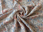 Pink Multi Floral Crinkle Rayon Crepe | The Design Cart