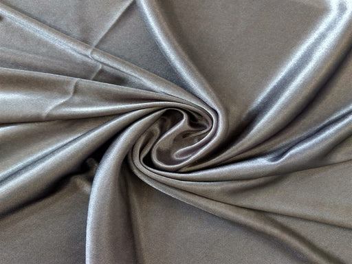 Gray Knitted Satin Fabric