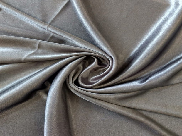 Gray Knitted Satin Fabric | The Design Cart