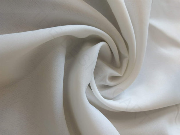 White Plain Poly Crepe Fabric | The Design Cart