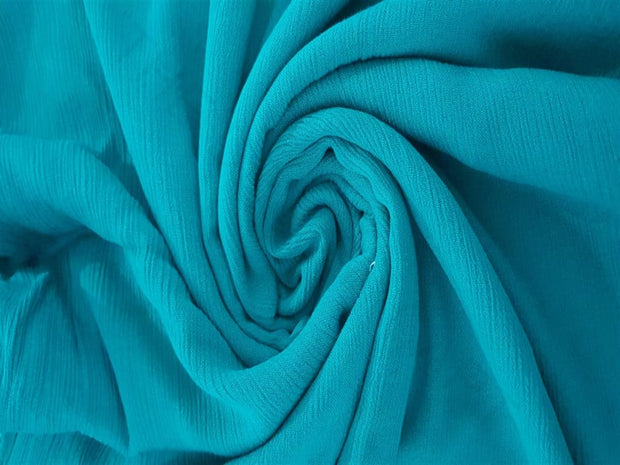 Green Crinkle Rayon Crepe Fabric | The Design Cart