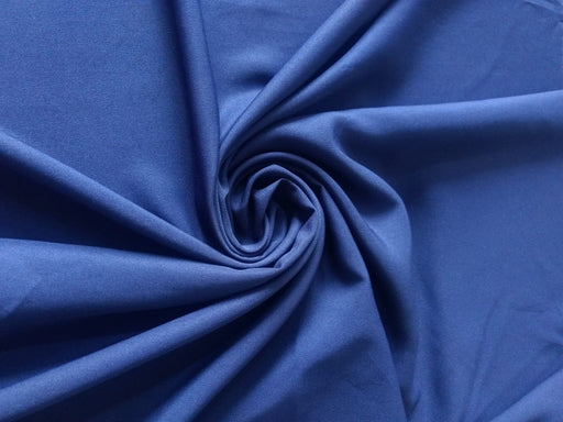Navy Blue Plain Poly Crepe Fabric