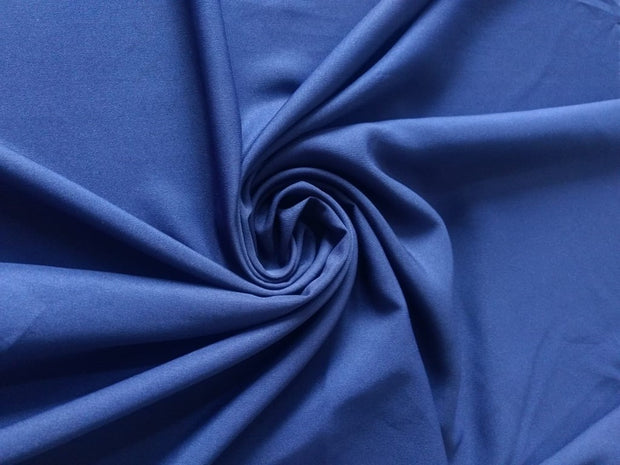 Navy Blue Plain Poly Crepe Fabric | The Design Cart
