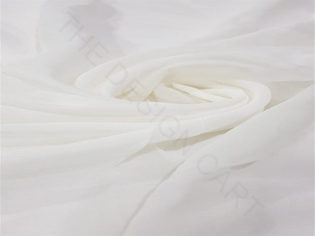 Dyeable White Plain Georgette Fabric | The Design Cart