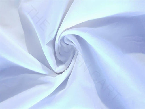 Plain White Cotton Lycra Fabric