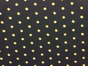 Black Multi Poly Crepe Fabric | The Design Cart