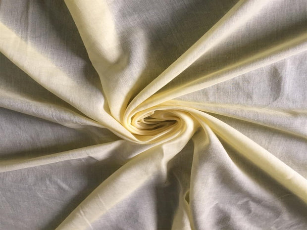 Yellow Solid Cotton Viole Fabric | The Design Cart