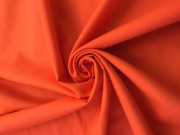 Orange Solid Cotton Satin Fabric | The Design Cart