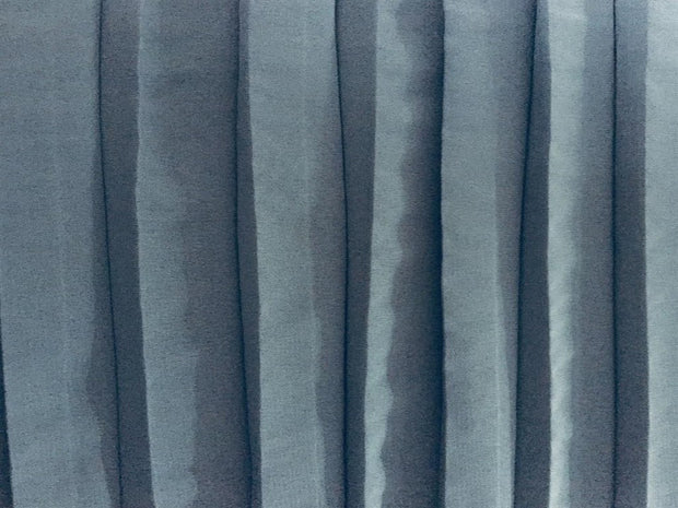 Grey Solid Pleated Georgette Fabric | The Design Cart