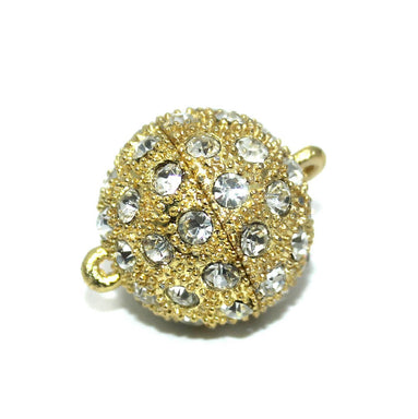 Golden Round Studded Magnetic Clasps