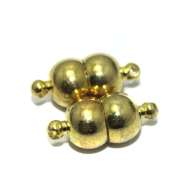 Golden Round on Round Magnetic Clasps
