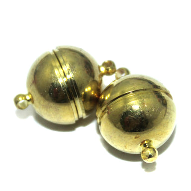 Golden Round Plain Magnetic Clasps