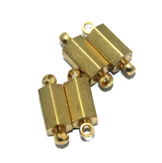 Golden Octagonal Magnetic Clasps | The Design Cart