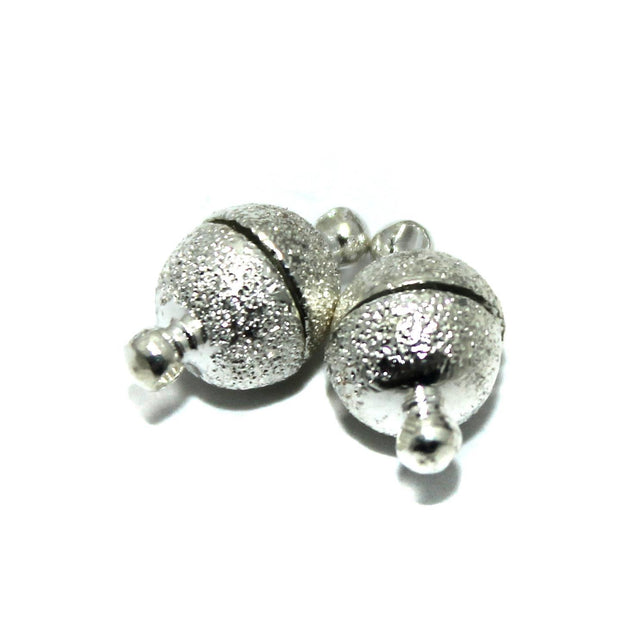 Silver Round Magnetic Clasps | The Design Cart