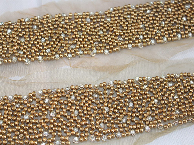 Golden Pearls Handwork Lace