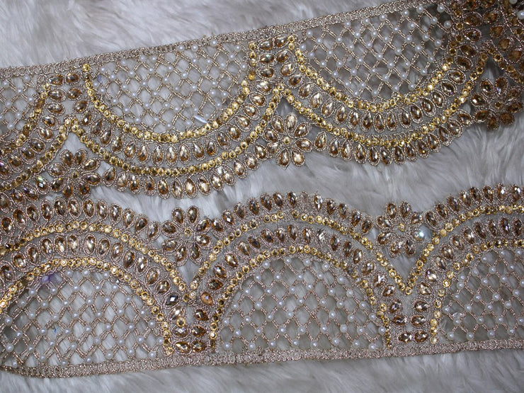 Copper Fancy Pearl and Stone Work Trim | The Design Cart (3794868764706)