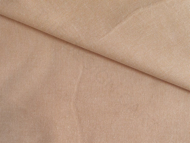 Peach Twill Chambray Yarn Dyed Cotton Fabric | The Design Cart