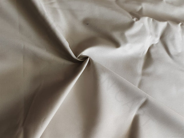 Cream Off White Plain Cotton Lycra Fabric | The Design Cart (4339458932805)