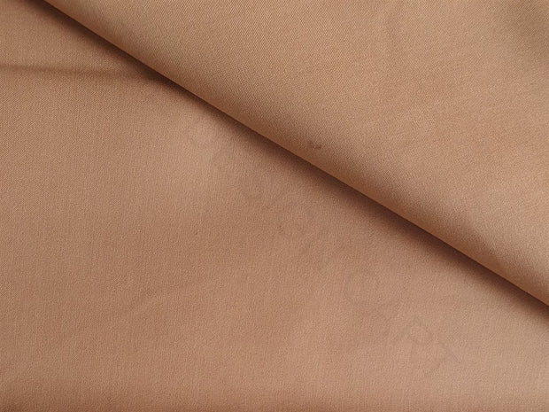 Brown Plain Poly Viscose Fabric | The Design Cart