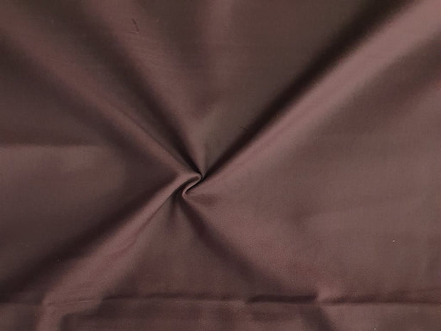 Dark Brown Plain Poly Viscose Fabric | The Design Cart