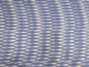 Dull Blue Printed Cotton Ikat Fabric