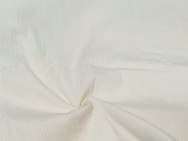 Creamy Seersucker Plain Dyeable Organic Cotton Fabric (4565831286853)