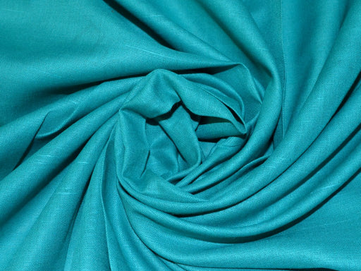 Turquoise Cotton Linen Fabric