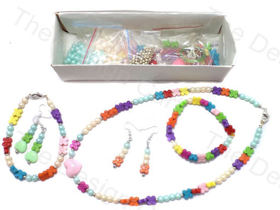 DIY Jewellery Making Tube & Flower Beads Kit
