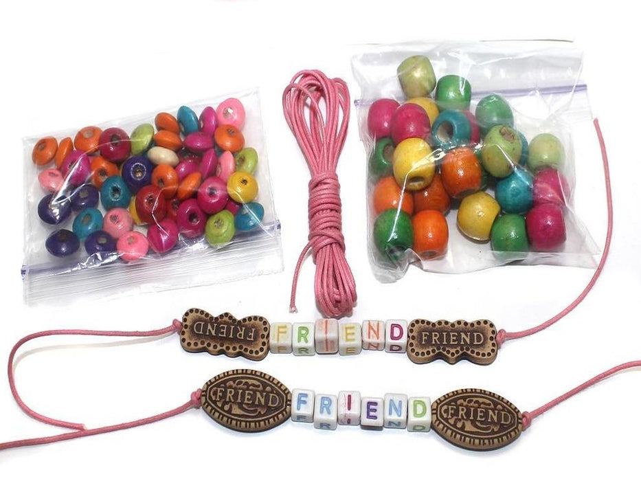 6f4f3835bb0d3 DIY Kids Jewellery Making Wooden, Friends Beads and CCB Beads Kit