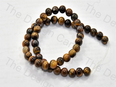 8 MM Brown Black Tiger Onyx Stones