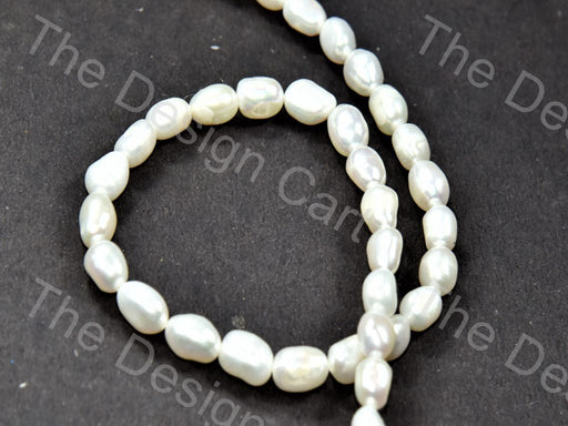 Cream Oval Shaped Mother Of Pearl Stones - The Design Cart