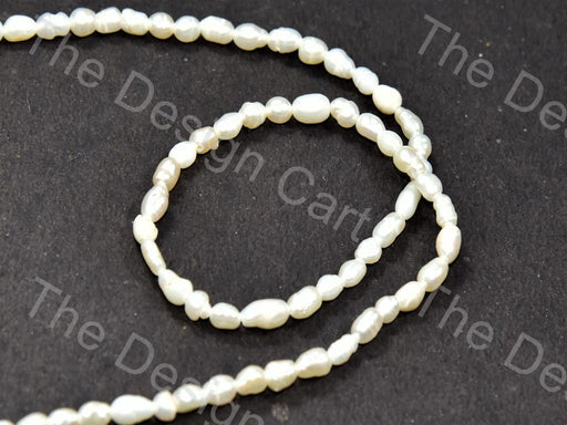 Cream Pebble Shaped Mother Of Pearl Stones - The Design Cart