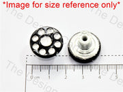 Black Multiple Swarovski Rivet Buttons - The Design Cart (597071593506)
