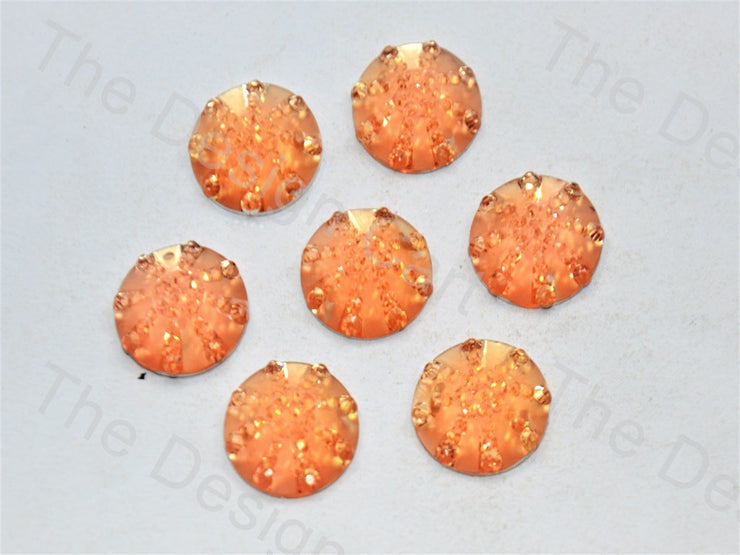Light Brown Round Sugar Resin Stone (439157522466)