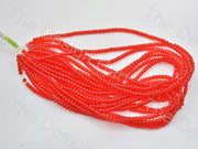 Red Round Pressed Glass Beads Strings - The Design Cart (434687672354)